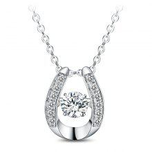 T400 12139 Exquisite 925 Sterling Silver Women Necklace