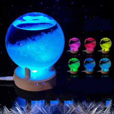 Buy TRANSPARENT USB LED Weather Forecast Storm Glass Crystal Wishing Ball for $31.99 in GearBest store