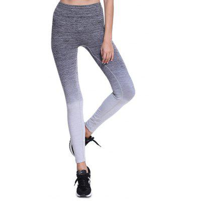Buy GRAY M Elastic Sports Outdoor Yoga Pants for Women for $11.87 in GearBest store