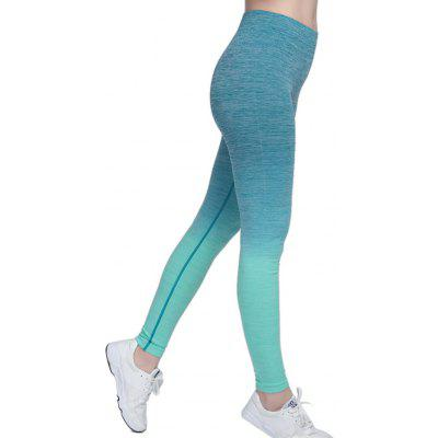 Buy GREEN L Elastic Sports Outdoor Yoga Pants for Women for $11.87 in GearBest store