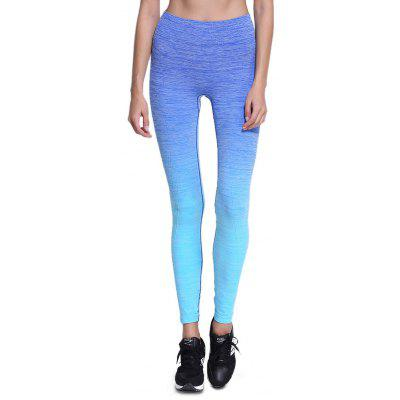 Buy BLUE M Elastic Sports Outdoor Yoga Pants for Women for $11.87 in GearBest store