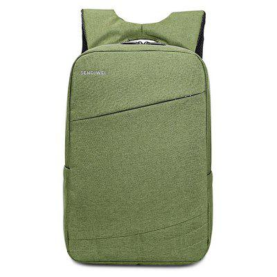 Buy GREEN Trendy Solid Color Water-resistant Laptop Backpack for $37.62 in GearBest store