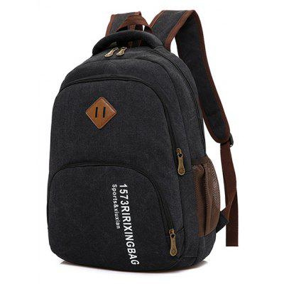 Buy Men Trendy Canvas Laptop Backpack, BLACK, Bags & Shoes, Men's Bags, Backpacks for $15.89 in GearBest store