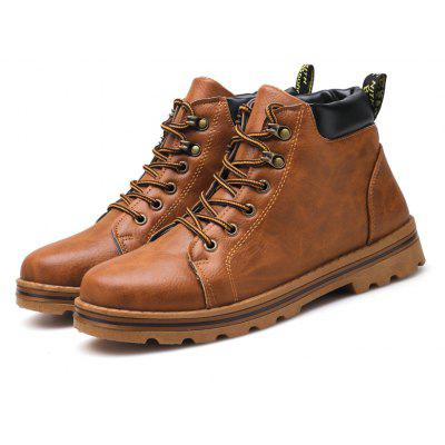 Masculino Classic Soft Grained Padded Ankle All-dressed Boots