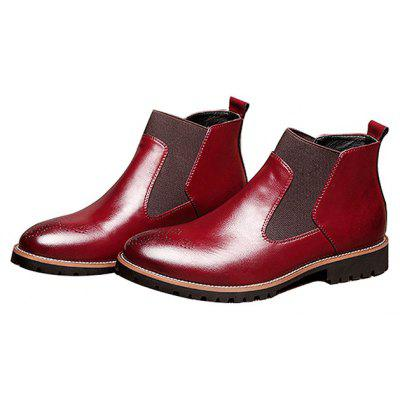 Male Business Soft British Carved Ankle-top BootsMens Boots<br>Male Business Soft British Carved Ankle-top Boots<br><br>Closure Type: Slip-On<br>Contents: 1 x Pair of Shoes<br>Decoration: Split Joint<br>Function: Slip Resistant<br>Materials: Rubber, Genuine Leather<br>Occasion: Tea Party, Shopping, Party, Office, Casual, Daily, Rainy Day, Dress, Formal, Holiday<br>Outsole Material: Rubber<br>Package Size ( L x W x H ): 26.00 x 7.00 x 6.00 cm / 10.24 x 2.76 x 2.36 inches<br>Package Weights: 0.57kg<br>Seasons: Autumn,Spring<br>Style: Modern, Leisure, Formal, Fashion, Comfortable, Casual, Business<br>Toe Shape: Pointed Toe<br>Type: Boots<br>Upper Material: Genuine Leather