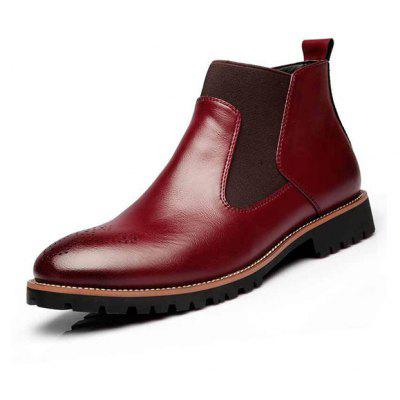 Masculino Business Soft British Carved Ankle-top Boots