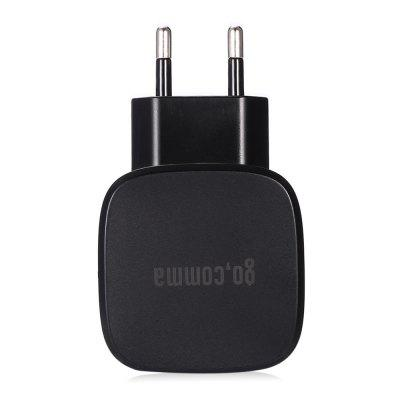 Buy BLACK Gocomma 3.0 Dual USB Power Charging Adapter for $6.03 in GearBest store