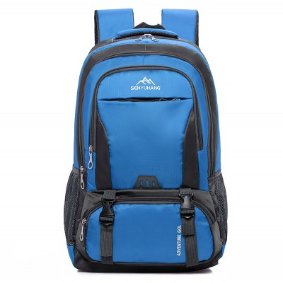 Buy BLUE Men Durable Water-resistant Large Capacity Travel Backpack for $22.41 in GearBest store