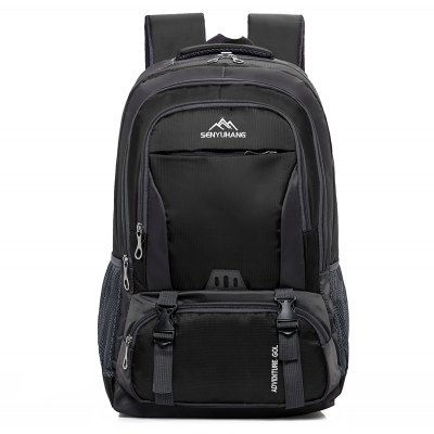 Buy BLACK Men Durable Water-resistant Large Capacity Travel Backpack for $22.41 in GearBest store