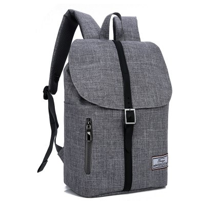 Trendy Canvas Leather-trimmed BackpackBackpacks<br>Trendy Canvas Leather-trimmed Backpack<br><br>Features: Wearable<br>Gender: Unisex<br>Material: Canvas<br>Package Size(L x W x H): 51.00 x 3.00 x 28.00 cm / 20.08 x 1.18 x 11.02 inches<br>Package weight: 0.5000 kg<br>Packing List: 1 x Backpack<br>Product weight: 0.4800 kg<br>Style: Casual, Fashion<br>Type: Backpacks