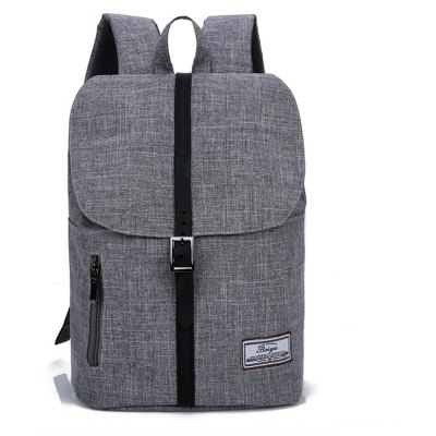 Buy GRAY Trendy Canvas Leather-trimmed Backpack for $23.20 in GearBest store