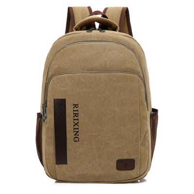 Men Leisure Splicing Canvas Laptop BackpackBackpacks<br>Men Leisure Splicing Canvas Laptop Backpack<br><br>Closure Type: Zip<br>Features: Water Bottle Pocket, Wearable<br>For: Daily Use, Traveling, Shopping, Outdoor<br>Gender: Men<br>Material: Canvas<br>Package Size(L x W x H): 33.00 x 2.00 x 45.00 cm / 12.99 x 0.79 x 17.72 inches<br>Package weight: 0.7200 kg<br>Packing List: 1 x Backpack<br>Product weight: 0.7000 kg<br>Style: Fashion, Casual<br>Type: Backpacks