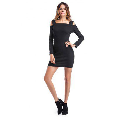Vestido Fitted Shoulder Long-sleeved Fitted
