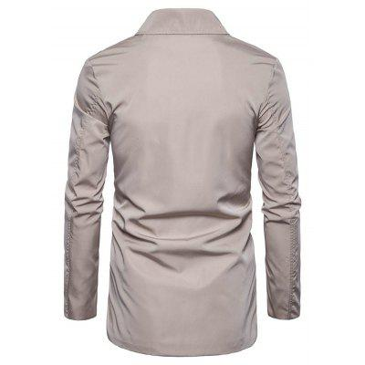 Stylish Turn Down Collar Asymmetric JacketMens Jackets &amp; Coats<br>Stylish Turn Down Collar Asymmetric Jacket<br><br>Closure Type: Zipper<br>Clothes Type: Jackets<br>Collar: Turn-down Collar<br>Embellishment: Others<br>Materials: Cotton, Polyester<br>Occasion: Daily Use<br>Package Content: 1 x Jacket<br>Package Dimension: 40.00 x 30.00 x 4.00 cm / 15.75 x 11.81 x 1.57 inches<br>Package weight: 0.6200 kg<br>Pattern Type: Solid<br>Product weight: 0.6000 kg<br>Seasons: Autumn,Winter<br>Shirt Length: Regular<br>Sleeve Length: Long Sleeves<br>Style: Classic<br>Thickness: Medium thickness