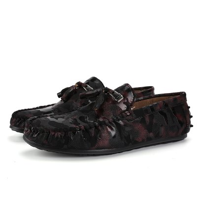 Masculino Único Camouflage Light Flat Loafer