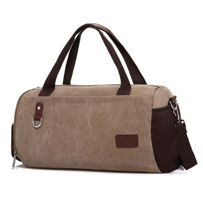 Vintage Durable Canvas Gym Sports BagLuggage&amp;Travel Bags<br>Vintage Durable Canvas Gym Sports Bag<br><br>Closure Type: Zip<br>Features: Wearable<br>For: Fishing, Traveling, Outdoor, Fitness, Daily Use<br>Gender: Men<br>Material: Canvas<br>Package Size(L x W x H): 42.00 x 2.00 x 30.00 cm / 16.54 x 0.79 x 11.81 inches<br>Package weight: 0.8200 kg<br>Packing List: 1 x Gym Sports Bag<br>Product weight: 0.8000 kg<br>Style: Fashion<br>Type: Shoulder bag, Handbag