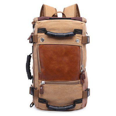 Buy KHAKI VERTICAL Practical Large Capacity Backpack for Men for $54.84 in GearBest store