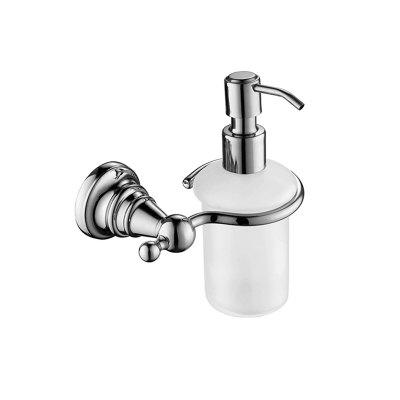 Buy MLFALLS Modern Wall Mounted Soap Dispenser with Holder, SILVER AND WHITE, Home & Garden, Bathroom, Other Bathroom Accessories for $23.69 in GearBest store