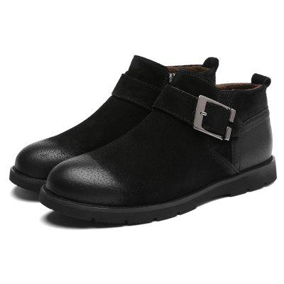Buy Men Stylish Brush off Buckle Ankle Boots, BLACK, 40, Bags & Shoes, Men's Shoes, Men's Boots for $56.52 in GearBest store