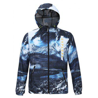 Mr 1991 INC Miss Go Snow Mountains Printing Sports Jacket