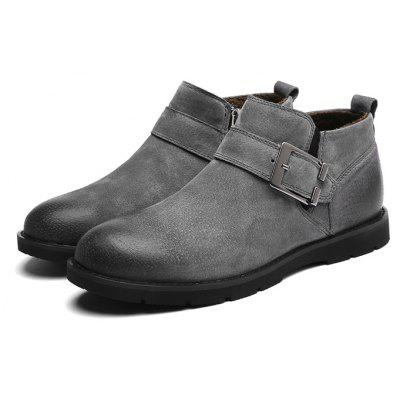 Buy Men Stylish Brush off Buckle Ankle Boots, GRAY, 40, Bags & Shoes, Men's Shoes, Men's Boots for $56.52 in GearBest store