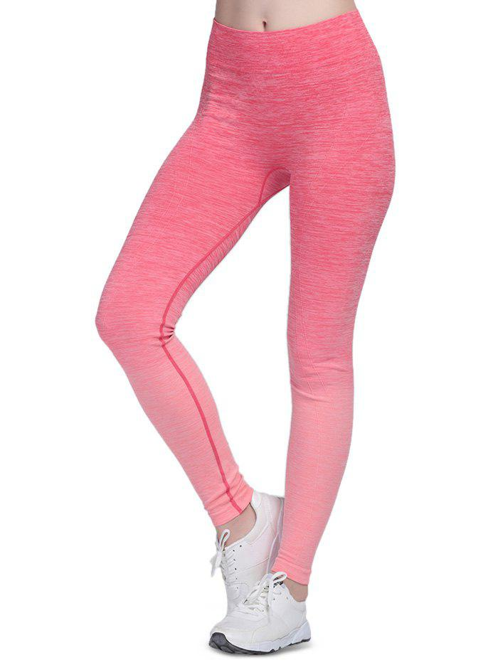 ROSE RED M Elastic Sports Outdoor Yoga Pants for Women