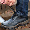 Male Versatile Ultralight Hiking Casual Leather Shoes - BLACK
