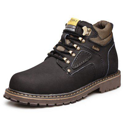 Buy Male Trendy Soft Thicken Fur Padded Collar Boots, BLACK, 42, Bags & Shoes, Men's Shoes, Men's Boots for $60.05 in GearBest store