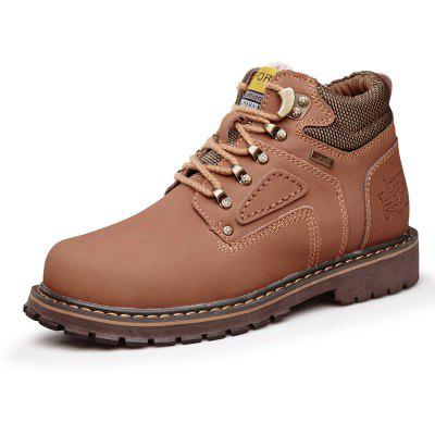 Buy Male Trendy Soft Thicken Fur Padded Collar Boots, LIGHT BROWN, 40, Bags & Shoes, Men's Shoes, Men's Boots for $60.05 in GearBest store