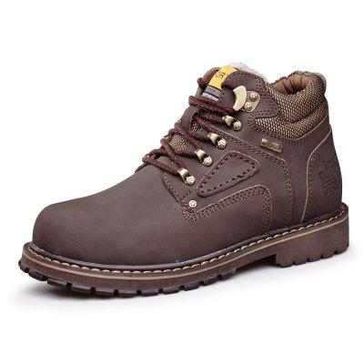 Buy Male Trendy Soft Thicken Fur Padded Collar Boots, DEEP BROWN, 39, Bags & Shoes, Men's Shoes, Men's Boots for $60.05 in GearBest store