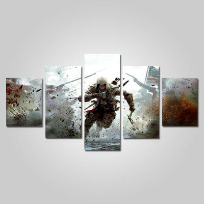 God Painting Canvas Prints Figure Hanging Wall Art 5PCS