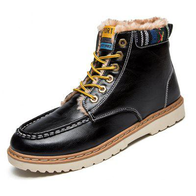 Men CTSmart Chic Warmest Ankle-top Snow BootsMens Boots<br>Men CTSmart Chic Warmest Ankle-top Snow Boots<br><br>Brand: CTSmart<br>Closure Type: Lace-Up<br>Contents: 1 x Pair of Shoes, 1 x Box<br>Function: Slip Resistant<br>Lining Material: Plush<br>Materials: PU, Rubber, Plush<br>Occasion: Tea Party, Shopping, Riding, Party, Outdoor Clothing, Office, Holiday, Formal, Dress, Daily, Casual<br>Outsole Material: Rubber<br>Package Size ( L x W x H ): 31.00 x 22.00 x 11.00 cm / 12.2 x 8.66 x 4.33 inches<br>Package Weights: 0.69kg<br>Pattern Type: Solid<br>Seasons: Autumn,Winter<br>Style: Leisure, Casual, Comfortable, Fashion, Business, Formal, Modern<br>Toe Shape: Round Toe<br>Type: Boots<br>Upper Material: PU