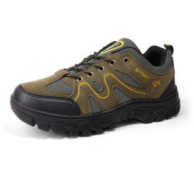 Male Outdoor Ultralight Soft Hiking SneakersAthletic Shoes<br>Male Outdoor Ultralight Soft Hiking Sneakers<br><br>Closure Type: Lace-Up<br>Contents: 1 x Pair of Shoes, 1 x Box, 1 x Dustproof Paper<br>Decoration: Split Joint<br>Function: Slip Resistant<br>Materials: Suede, Rubber<br>Occasion: Sports, Riding, Outdoor Clothing, Holiday, Daily, Casual, Running<br>Outsole Material: Rubber<br>Package Size ( L x W x H ): 33.00 x 22.00 x 11.00 cm / 12.99 x 8.66 x 4.33 inches<br>Package Weights: 1.05kg<br>Seasons: Autumn,Spring<br>Style: Modern, Leisure, Fashion, Comfortable, Casual<br>Toe Shape: Round Toe<br>Type: Sports Shoes<br>Upper Material: Suede