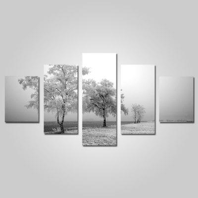 God Painting Canvas Prints Fog Hanging Wall Art 5PCS