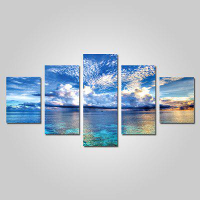 God Painting Canvas Prints Clear Sky Hanging Wall Art 5PCS