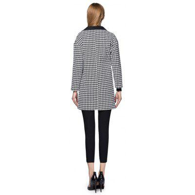 Notch Lapel Houndstooth Long OvercoatJackets &amp; Coats<br>Notch Lapel Houndstooth Long Overcoat<br><br>Materials: Polyester, Tweed<br>Package Content: 1 x Overcoat<br>Package Dimension: 30.00 x 40.00 x 1.00 cm / 11.81 x 15.75 x 0.39 inches<br>Package weight: 0.9300 kg<br>Product weight: 0.9100 kg<br>Type: Coat