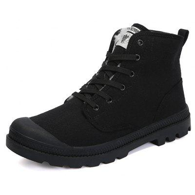 Male Quintessential Soft Warmest High-top BootsMens Boots<br>Male Quintessential Soft Warmest High-top Boots<br><br>Closure Type: Lace-Up<br>Contents: 1 x Pair of Shoes, 1 x Box, 1 x Dustproof Paper<br>Function: Slip Resistant<br>Materials: Canvas, Rubber<br>Occasion: Riding, Shopping, Sports, Tea Party, Party, Outdoor Clothing, Office, Casual, Daily, Dress, Formal, Holiday<br>Outsole Material: Rubber<br>Package Size ( L x W x H ): 33.00 x 22.00 x 11.00 cm / 12.99 x 8.66 x 4.33 inches<br>Package Weights: 0.85kg<br>Pattern Type: Solid<br>Seasons: Autumn,Winter<br>Style: Modern, Leisure, Fashion, Comfortable, Casual, Business<br>Toe Shape: Round Toe<br>Type: Boots<br>Upper Material: Canvas