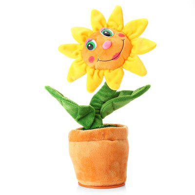 Buy Electronic Smart Voice Control Plush Sunflower Toy COLORMIX for $11.51 in GearBest store