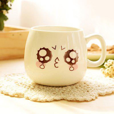 Creative Various Lovely Ceramic Mug Cup with Spoon 3pcs