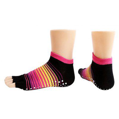 Women Breathable Pure Cotton Toe Socks for Yoga