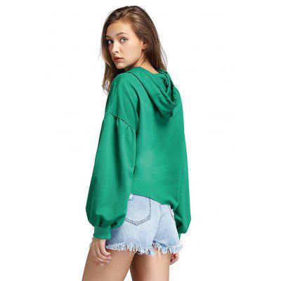 Lantern Sleeves Drop Shoulder Loose HoodieSweatshirts &amp; Hoodies<br>Lantern Sleeves Drop Shoulder Loose Hoodie<br><br>Clothes Type: Hoodie<br>Material: Cotton<br>Occasion: Going Out, Daily Use, Casual<br>Package Contents: 1 x Hoodie<br>Package size: 29.00 x 17.00 x 9.00 cm / 11.42 x 6.69 x 3.54 inches<br>Package weight: 0.2800 kg<br>Pattern: Solid Color<br>Product weight: 0.2600 kg<br>Style: Casual, Brief