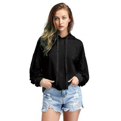 Luvas de lanterna Drop Shoulder Loose Hoodie