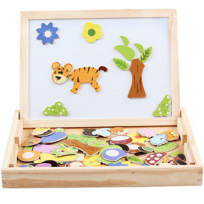 Wooden Jigsaw Magnetic Board Puzzle Game Kit
