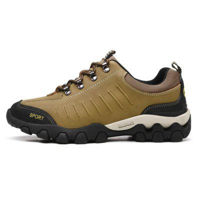 Male Breathable Outdoor Climbing Sneaker Hiking ShoesAthletic Shoes<br>Male Breathable Outdoor Climbing Sneaker Hiking Shoes<br><br>Closure Type: Lace-Up<br>Contents: 1 x Pair of Shoes, 1 x Box<br>Function: Slip Resistant<br>Materials: Leather, Rubber<br>Occasion: Sports, Riding, Outdoor Clothing, Casual, Running<br>Outsole Material: Rubber<br>Package Size ( L x W x H ): 31.00 x 21.00 x 13.00 cm / 12.2 x 8.27 x 5.12 inches<br>Package Weights: 1.020<br>Pattern Type: Solid<br>Seasons: Autumn,Spring,Winter<br>Style: Leisure, Comfortable<br>Toe Shape: Round Toe<br>Type: Sports Shoes<br>Upper Material: Leather