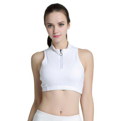High Neck Sports Bra for Yoga Running Cycling