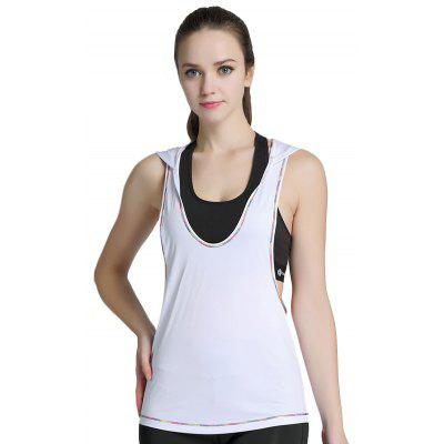 Trendy Sleeveless Sports Vest for Yoga Running CyclingYoga<br>Trendy Sleeveless Sports Vest for Yoga Running Cycling<br><br>Features: Breathable<br>Gender: Female<br>Material: Polyester, Spandex<br>Package Content: 1 x Vest<br>Package size: 21.00 x 23.00 x 1.50 cm / 8.27 x 9.06 x 0.59 inches<br>Package weight: 0.1370 kg<br>Product weight: 0.1296 kg<br>Type: Vest