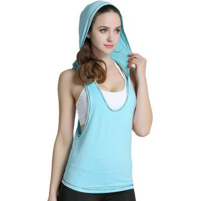 Trendy Sleeveless Sports Vest for Yoga Running Cycling