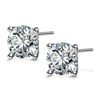 T400 8602 Sweet 925 Sterling Silver Women Stud Earrings