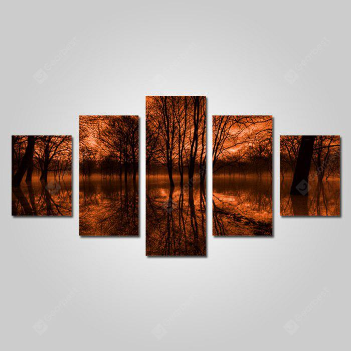 God Painting Canvas Prints Forest Hanging Wall Art 5PCS