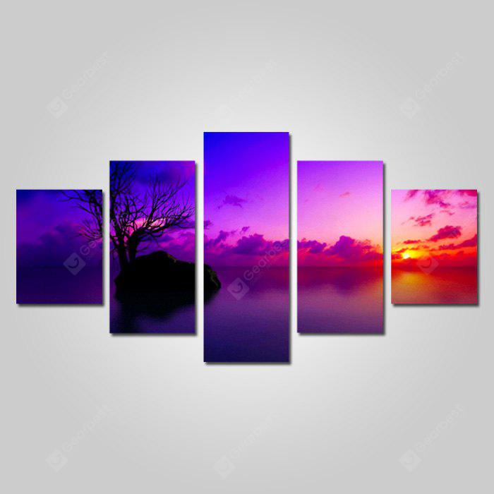 God Painting Canvas Prints Sunset Hanging Wall Art 5PCS